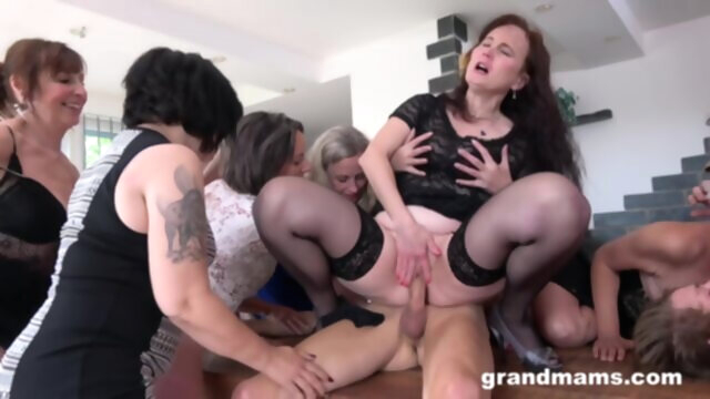 GrandMams - Horny Grandmams And Toyboys.. big tits blonde brunette