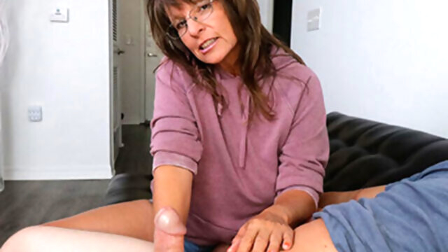 Step-Mom Caught Me Masturbating cumshot handjob milf