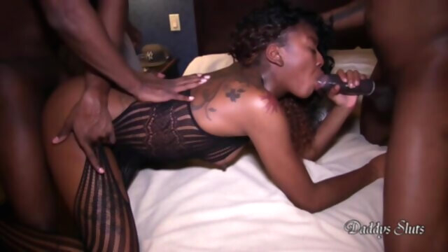 BBC GangBang For Slim Ebony Slut in HD big ass big cock ebony