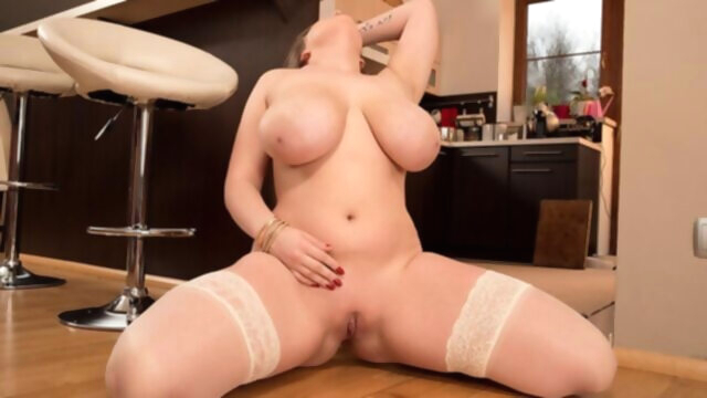 Kitchen Wet Dreams - Larissa Linn -.. bbw big ass big tits