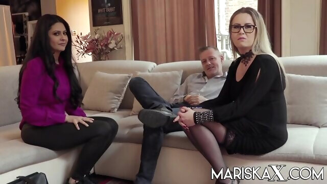 Mariska joins a hot swinger couple amateur big tits blonde
