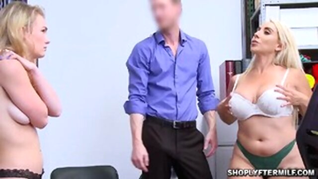 Officer Ryan cums on mom and daugter doggystyle cumshot milf