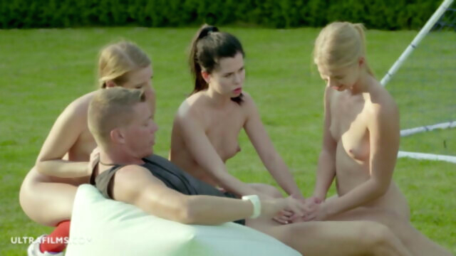 ULTRAFILMS, Football Girls Team Give the.. blonde blowjob brunette