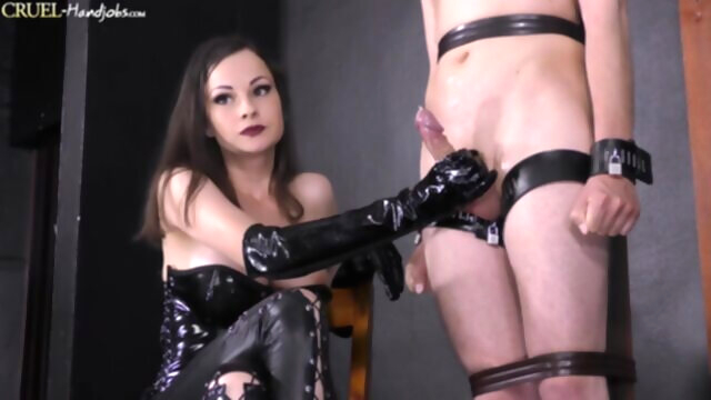 CruelHandjobs - Debut of Lady Abbie Cat bdsm brunette cumshot