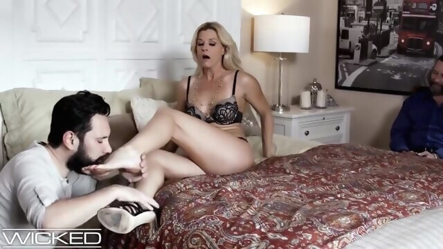 Husband Watches Wife get Pounded by his.. amateur blonde cuckold