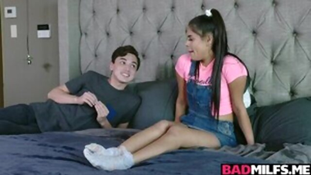 Stepbrother feeds his stepsister Katya.. brunette milf teen